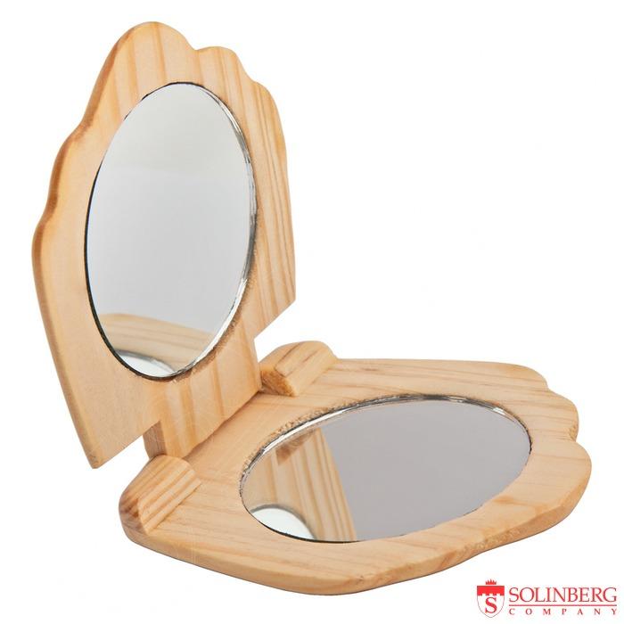 деревянное компактное зеркало Золинберг